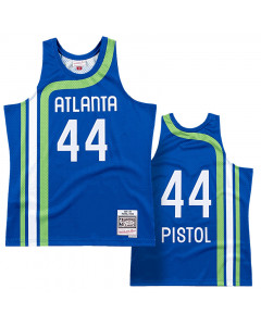 Pete Maravich 44 Atlanta Hawks 1971-72 Mitchell & Ness  Road Swingman dres