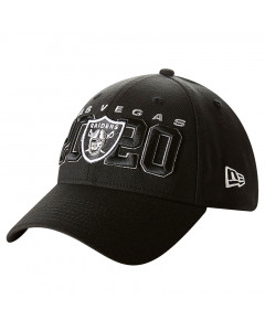Las Vegas Raiders New Era 9FORTY Draft Official Stretch Snap Mütze
