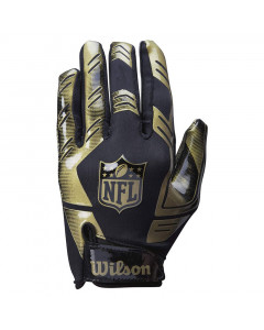 Wilson AD Strech Fit American Football Handschuh Gold