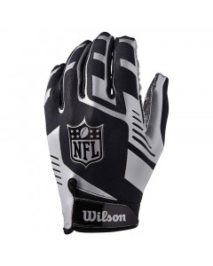 Wilson AD Strech Fit rokavice za ameriški nogomet Silver