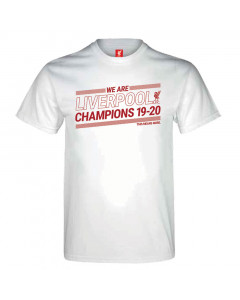 Liverpool Champions 19-20 White T-Shirt