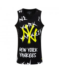 New York Yankees New Era All over Wordmark Tank majica brez rokavov