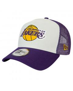 Los Angeles Lakers New Era Trucker Team Colour Block Mütze
