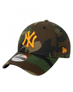 New York Yankees New Era 9FORTY Essential Camo Neon Logo Mütze