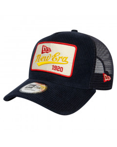 New Era Fabric Patch Navy Trucker kapa