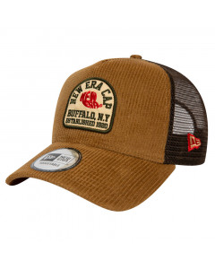 New Era Fabric Patch Brown Trucker Mütze
