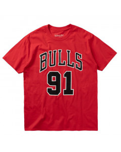 Chicago Bulls Number 91 Mitchell & Ness Last Dance T-Shirt