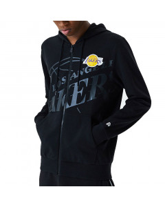 Los Angeles Lakers New Era Big Logo Black zip majica sa kapuljačom