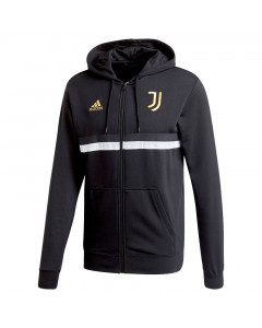 Juventus Adidas 3-Stripes zip majica sa kapuljačom