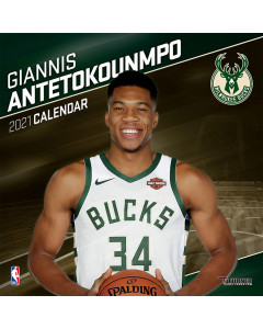 Giannis Antetokounmpo Milwaukee Bucks koledar 2021