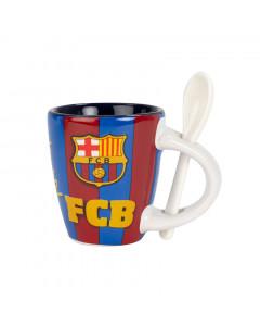 FC Barcelona skodelica z žličko