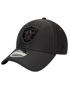 Las Vegas Raiders New Era 9FORTY Tonal Black Stretch Snap Mütze