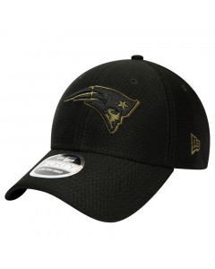New England Patriots New Era 9FORTY Tonal Black Stretch Snap Mütze