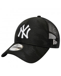 New York Yankees New Era 9FORTY Trucker Seasonal The League Black Camo Mütze