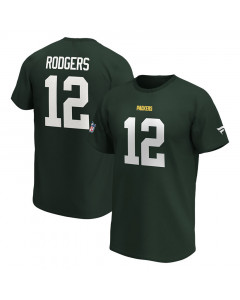 Aaron Rodgers 12 Green Bay Packers Iconic Name & Number Graphic majica