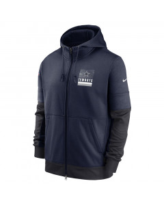 Dallas Cowboys Nike Lockup Therma Full Zip Kapuzenjacke
