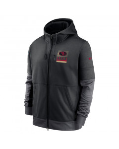 San Francisco 49ers Nike Lockup Therma Full Zip Kapuzenjacke