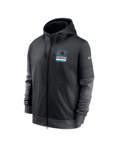 Carolina Panthers Nike Lockup Therma Full Zip Kapuzenjacke