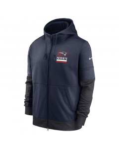 New England Patriots Nike Lockup Therma Full Zip Kapuzenjacke