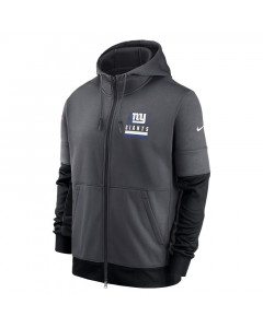 New York Giants Nike Lockup Therma Full Zip Kapuzenjacke