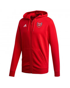 Arsenal Adidas 3-Stripes zip majica sa kapuljačom