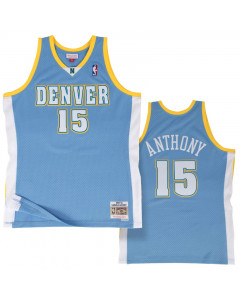 Carmelo Anthony 15 Denver Nuggets 2003-04 Mitchell & Ness Swingman Road dres