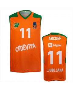 KK Cedevita Olimpija replika dres oranžen 20/21 (poljubni tisk)