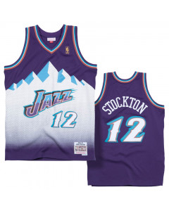 John Stockton 12 Utah Jazz 1996-97 Mitchell & Ness Swingman Trikot