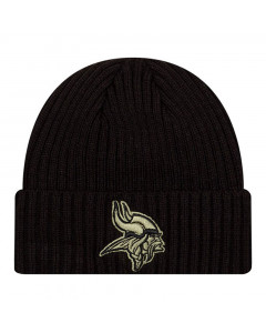 Minnesota Vikings New Era NFL 2020 Official Salute to Service Black Wintermütze
