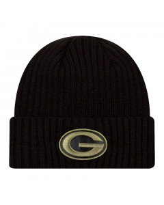 Green Bay Packers New Era NFL 2020 Official Salute to Service Black Wintermütze