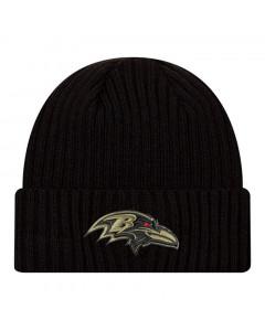 Baltimore Ravens New Era NFL 2020 Official Salute to Service Black Wintermütze