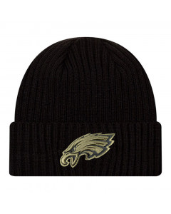 Philadelphia Eagles New Era NFL 2020 Official Salute to Service Black Wintermütze