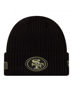 San Francisco 49ers New Era NFL 2020 Official Salute to Service Black Wintermütze