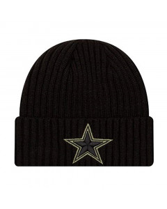Dallas Cowboys New Era NFL 2020 Official Salute to Service Black Wintermütze