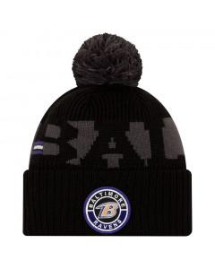 Baltimore Ravens New Era NFL 2020 Official Sideline Cold Weather Sport Knit Wintermütze