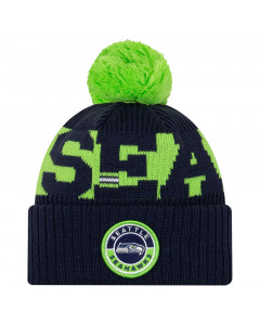 Seattle Seahawks New Era NFL 2020 Official Sideline Cold Weather Sport Knit Wintermütze
