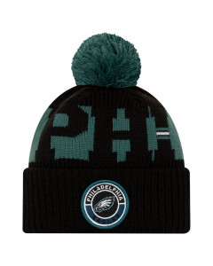 Philadelphia Eagles New Era NFL 2020 Official Sideline Cold Weather Sport Knit Wintermütze