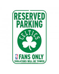 "Boston Celtics ""Reserved Parking"" Schild"
