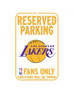 "Los Angeles Lakers ""Reserved Parking"" Schild"