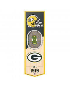 Green Bay Packers 3D Stadium Banner slika
