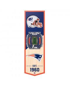 New England Patriots 3D Stadium Banner slika