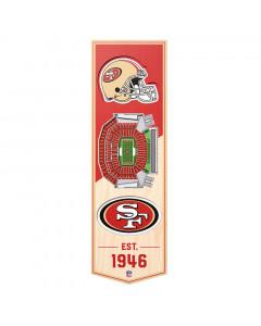 San Francisco 49ers 3D Stadium Banner slika