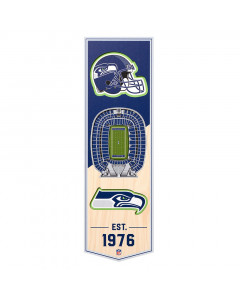 Seattle Seahawks 3D Stadium Banner slika