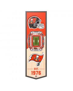 Tampa Bay Buccaneers 3D Stadium Banner