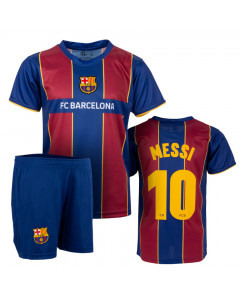FC Barcelona 1st Team Kinder Training Trikot Komplet Set Messi