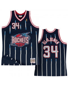 Hakeem Olajuwon 34 Houston Rocket 1996-97  Mitchell & Ness Swingman Road dres