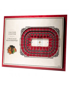 Chicago Blackhawks 3D Stadium View slika
