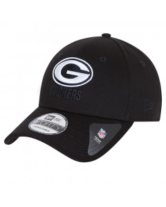 Green Bay Packers New Era 9FORTY Black Base kapa