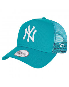 New York Yankees New Era Tonal Mesh Trucker A-Frame Turquoise kapa