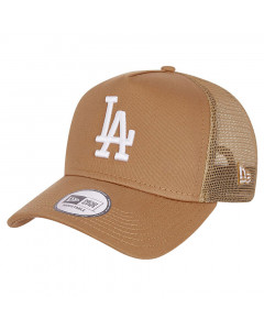 Los Angeles Dodgers New Era Tonal Mesh Trucker A-Frame Brown kapa